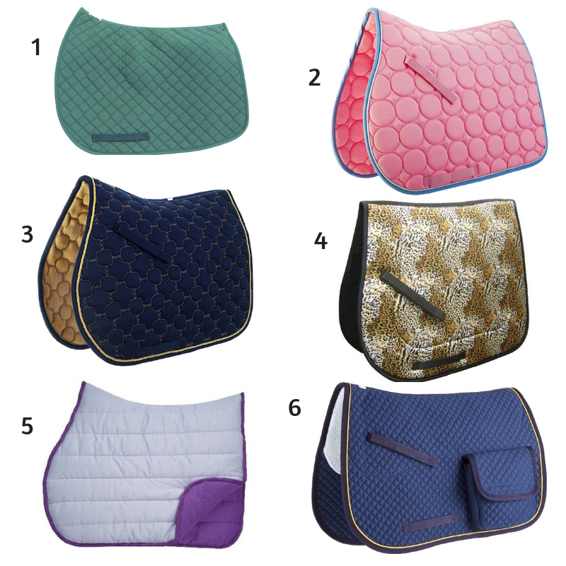 6 All-Purpose English Saddle Pads Under $50